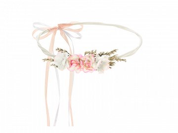 Flower crown, light peach, 18cm