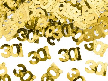 Metallic confetti, number 30, 15g