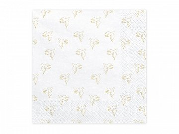 Napkins First Communion - Dove, 33x33cm, gold (1 pkt / 20 pc.)