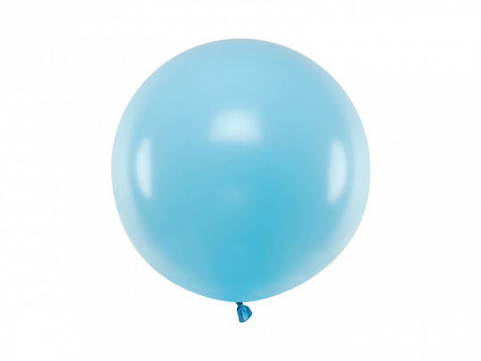 Round Balloon 60cm, Pastel Light Blue