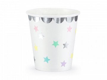 Cups Unicorn - Stars, 180 ml (1 pkt / 6 pc.)