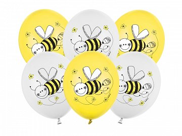 Balloons 30cm, Bees, Pastel Mix (1 pkt / 50 pc.)