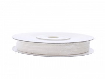 Chiffon Ribbon, white, 3mm/50m (1 pc. / 50 lm)