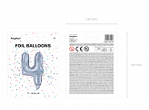 "Foil Balloon Number ""4"", 35cm, holographic"