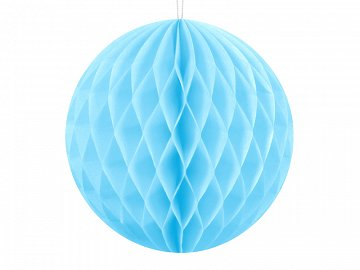 Honeycomb Ball, sky-blue, 10cm (1 ctn / 50 pc.)