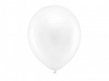 Rainbow Balloons 30cm metallic, white (1 pkt / 100 pc.)