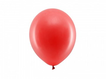 Rainbow Balloons 23cm pastel, red (1 pkt / 100 pc.)