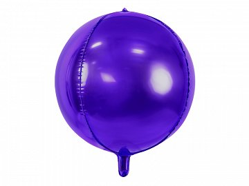 Foil Balloon Ball, 40cm, violet