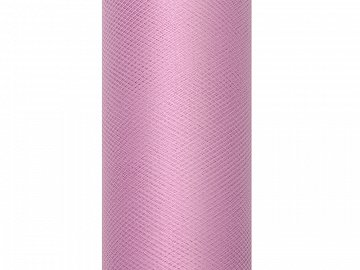 Tulle Plain, powder pink, 0.3 x 9m