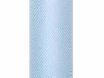 Tulle Plain, sky-blue, 0.15 x 9m (1 pc. / 9 lm)