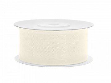 Chiffon Ribbon, light cream, 38mm/25m