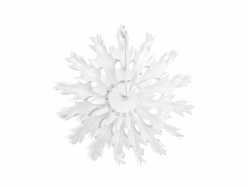 Decorative rosettes Snow flake, white, 37cm (1 ctn / 48 pc.)