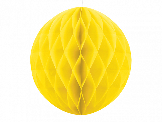 Honeycomb Ball, yellow, 30cm
