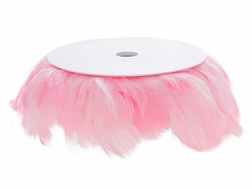 Wired feathers 10 m, light pink