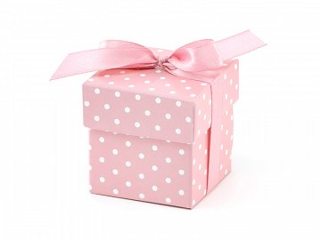 Boxes with dots, pink (1 pkt / 10 pc.)