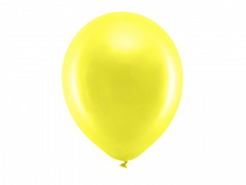 Rainbow Balloons 30cm metallic, yellow (1 pkt / 100 pc.)