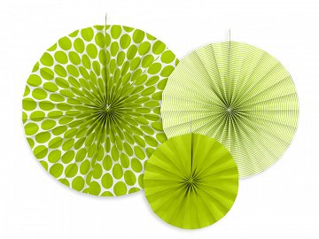 Decorative rosettes, apple green (1 pkt / 3 pc.)