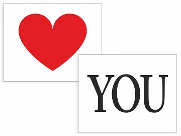 Shoe stickers Heart/You (1 pkt / 2 pc.)