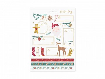 Christmas stickers Santa, mix (1 pkt / 10 pc.)