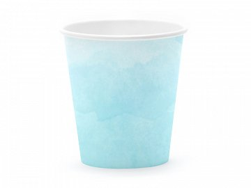 Summer time cups, turquoise, 180 ml (1 pkt / 6 pc.)