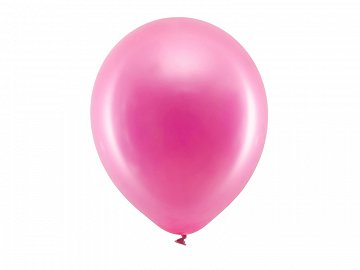 Rainbow Balloons 30cm metallic, fuchsia (1 pkt / 100 pc.)