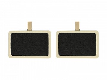Little chalkboards with a peg, 7x4.6cm (1 pkt / 2 pc.)