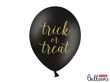 Balony 30 cm, Trick or Treat, Pastel Black (1 op. / 6 szt.)