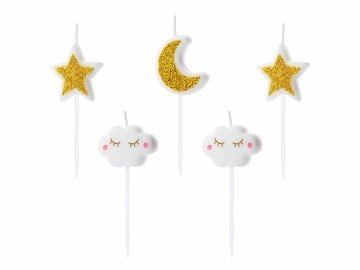 Birthday candles Little Star, mix, 2-3cm  (1 pkt / 5 pc.)
