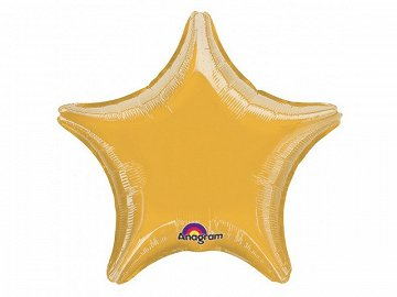 Microfoil balloon 19'' Star, gold
