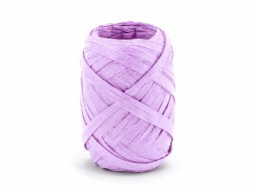Raffia ribbon, 5mm/10m, lilac (1 ctn / 80 pc.)