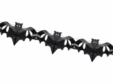 Tissue garland Bats, black, 4m