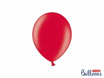Strong Balloons 23cm, Metallic Poppy Red (1 pkt / 50 pc.)