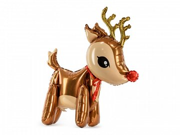Foil balloon Reindeer, 50x62cm, mix