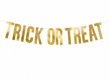 Baner Trick or Treat, złoty, 12 x 80 cm