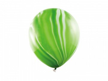 Marble Balloons 30cm, light green (1 pkt / 6 pc.)