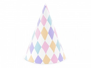Party hats Unicorn, mix, 10cm (1 pkt / 6 pc.)