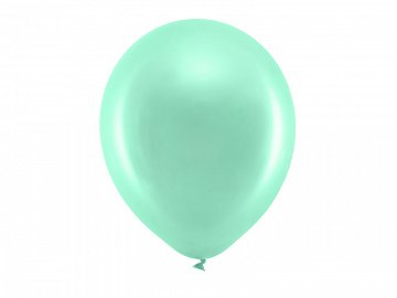 Rainbow Balloons 30cm metallic, mint (1 pkt / 100 pc.)