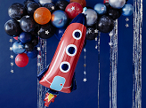 Foil balloon Rocket, 44x115cm, mix