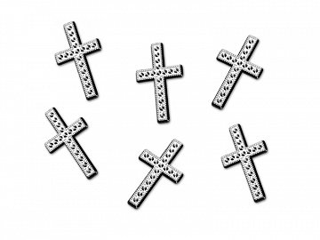 Embellishments Cross, silver, 27mm (1 pkt / 25 pc.)