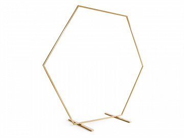 Hexagon backdrop stand, gold, 2m