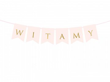 Banner Witamy, light pink, 15 x 80 cm