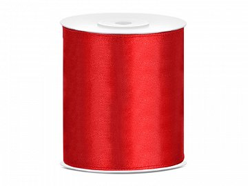 Satin Ribbon, red, 100mm/25m