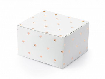 Boxes Hearts, white, 6x3.5x5.5cm (1 pkt / 10 pc.)