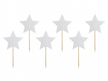 Cupcake toppers Unicorn - Stars (1 pkt / 6 pc.)