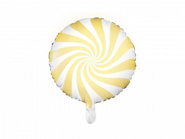 Foil Balloon Candy, 45cm, light yellow