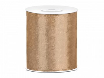 Satin Ribbon, light gold, 100mm/25m