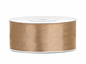 Satin Ribbon, light gold, 25mm/25m (1 pc. / 25 lm)