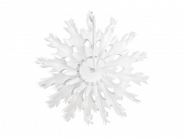 Decorative rosettes Snow flake, white, 45cm (1 ctn / 48 pc.)