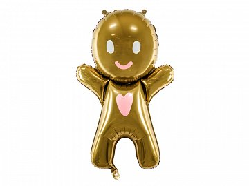Foil Ballon Gingerbread Man, 58x86cm, mix