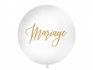 Giant Balloon 1 m, Mariage, white